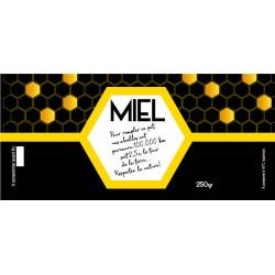 Etiquettes MIEL récolté par l'apiculteur 500gr