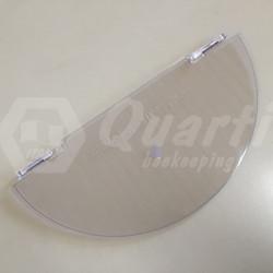 demi - couvercle en polycarbonate pour extracteur Quarti Ø 370 mm