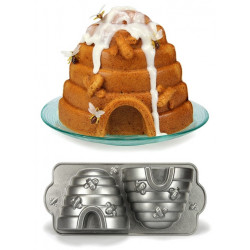Moule à gâteau - ruche traditionnelle et abeilles