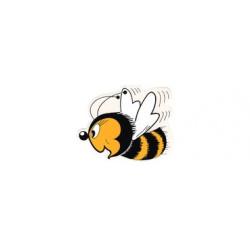 Autocollant détouré - petite abeille sympathique
