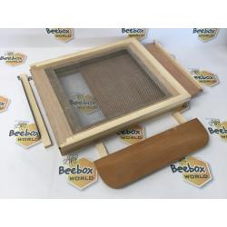 Plancher en bois LANGSTROTH aéré avec tiroir