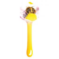 Bande  de garantie hexagonale pour pot  - motif abeille butineuse