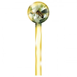 Bande de garantie ronde pour pot - fleur blanche