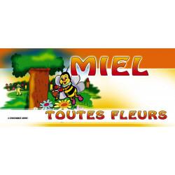 Etiquettes MIEL TOUTES FLEURS - motif  Cartoon