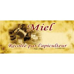 Etiquettes MIEL TOUTES FLEURS -vintage - 250 gr