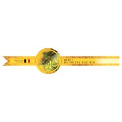 Bande de garantie ronde pour pot - miel de notre rucher Belgique