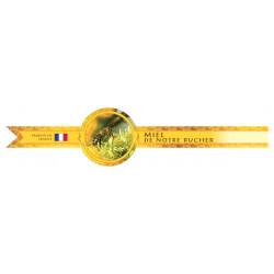 Bande de garantie ronde pour pot - miel de notre rucher France