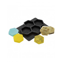 Moule en silicone pour savons ou loisirs créatifs - HEXAGONE